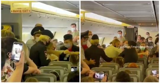 Авиадебоширку сняли с рейса под овации пассажиров
