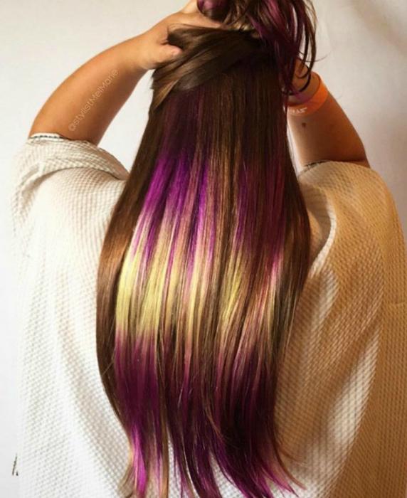 Модный тренд сезоня: 17 впечатляющих примеров градиентного окрашивания волос во все цвета радуги