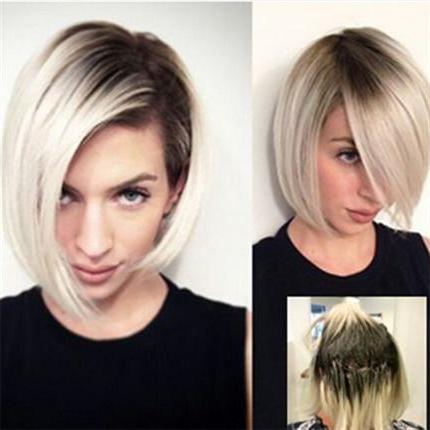 окраска волос омбре фото на короткие волосы